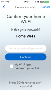 Confirm your home Wi-Fi network